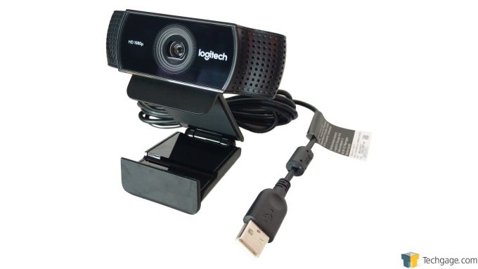 Logitech C922 Pro Stream Webcam - Integrated Stand/Clip