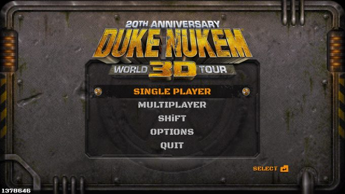 Duke Nukem 3D 20th Anniversary Start Screen