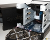 Synology DS416j Drive Trays Removed And Exposed Motherboard