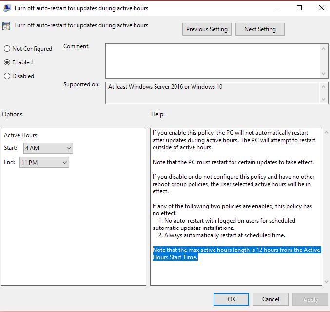 Windows Update Work Day