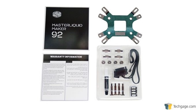Cooler Master MasterLiquid Maker 92 - Accessories