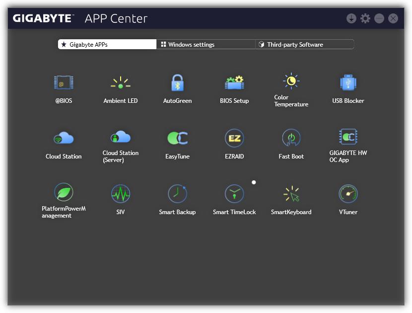 Techgage Image - GIGABYTE - App Center