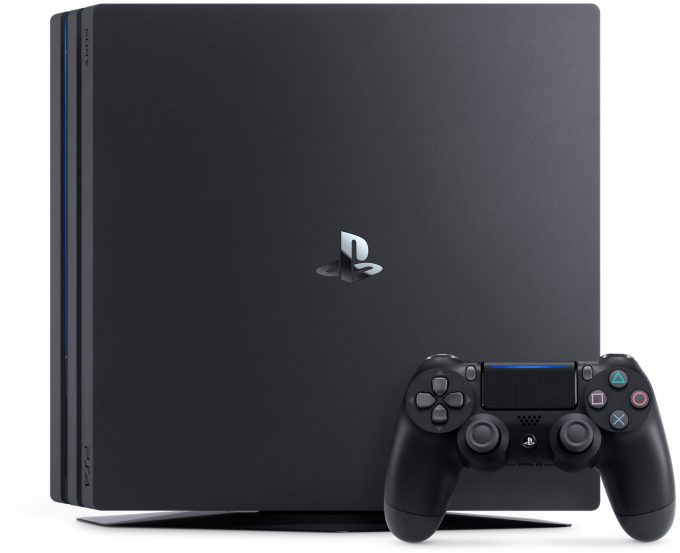 Sony Playstation 4 Pro Standing Up