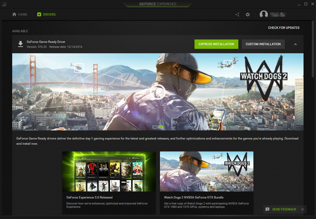 nvidia geforce experience wont download driver update