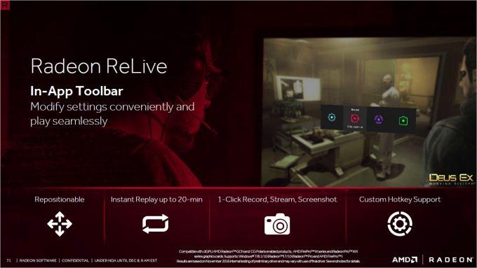 Radeon Crimson ReLive Customization & Toolbar