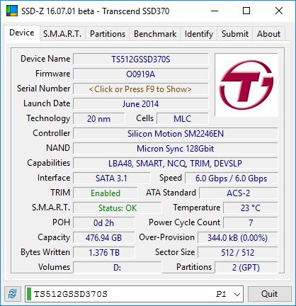 Transcend SSD370S SSD-Z