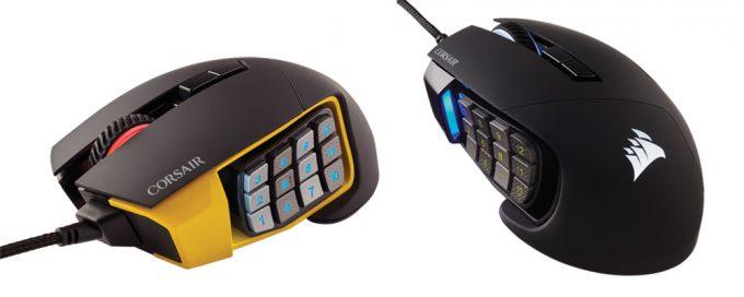 Corsair SCIMITAR PRO RGB MMO Mice - Yellow & Black