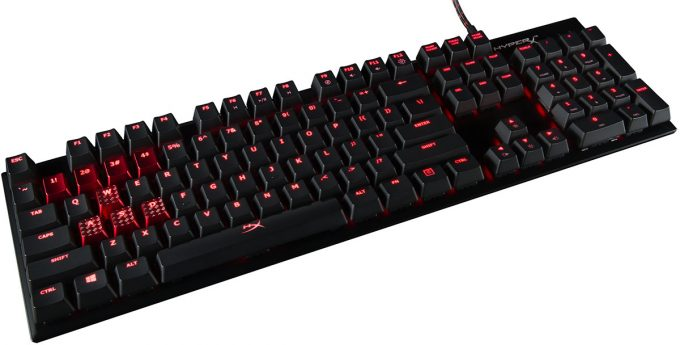 HyperX Alloy FPS Gaming Keyboard Angle View