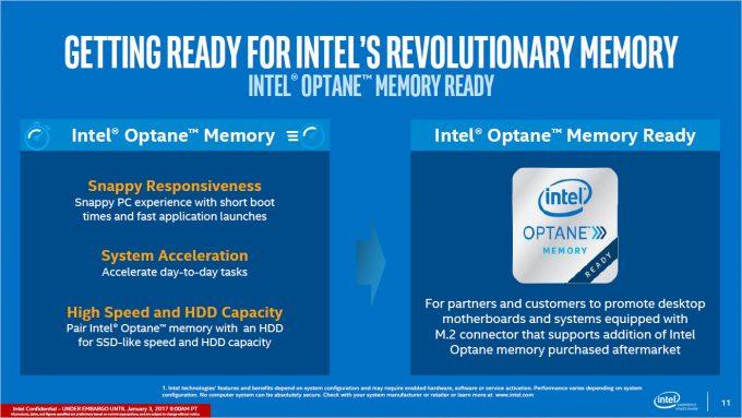 Intel Kaby Lake Z270 Chipset Optane Memory Slide