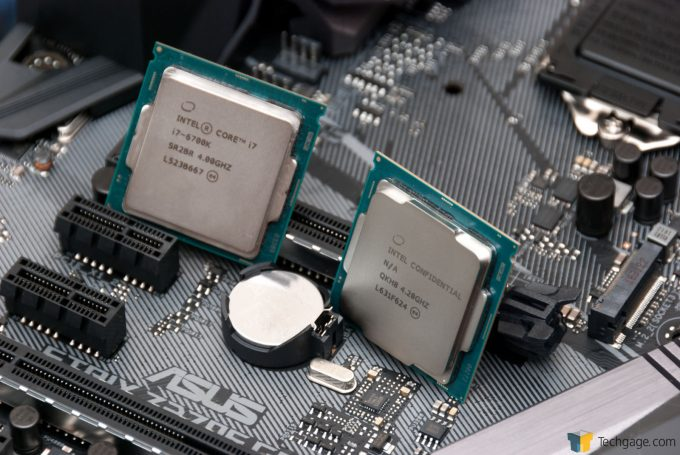 Intel Kaby Lake i7-7700K & i7-6700K On ASUS STRIX Motherboard