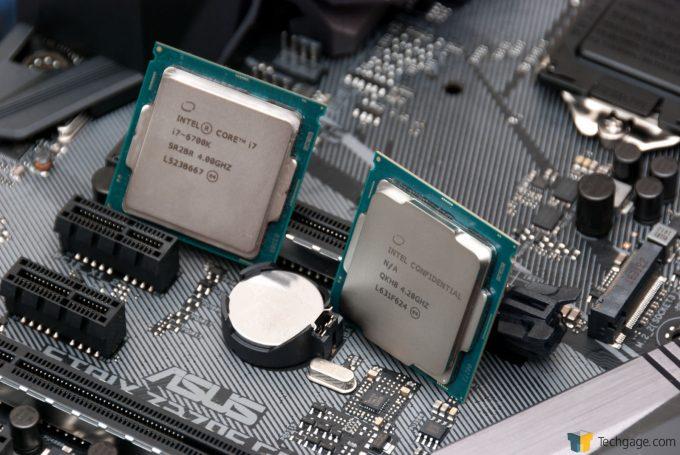 Intel Kaby Lake i7-7700K & i7-6700K On ASUS STRIX Motherboard