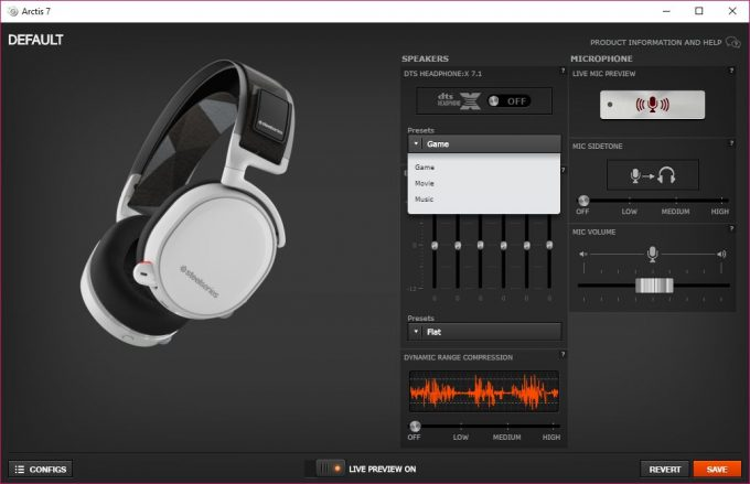 SteelSeries Arctis 7 - SteelSeries Engine 3 UI