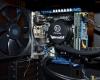 Cooler Master MasterCase Pro 3 Interior Installation - Close-up On mATX Board