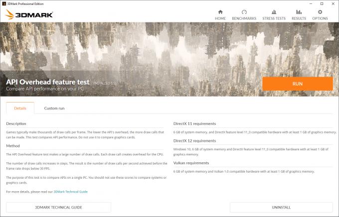Futuremark 3DMark - API Overhead Test