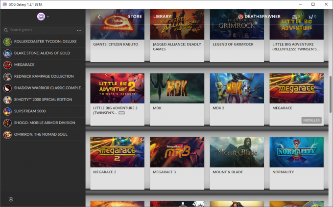 GOG Galaxy - Game Library