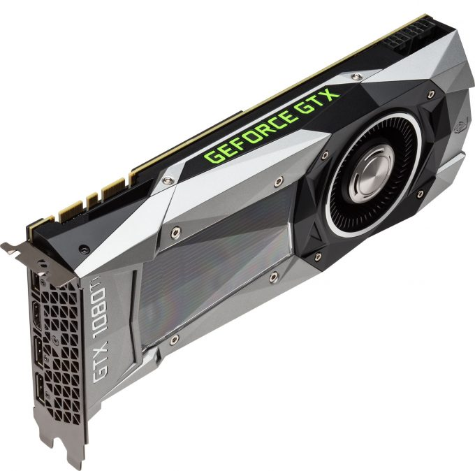 NVIDIA GeForce GTX 1080 Ti - Top Angle