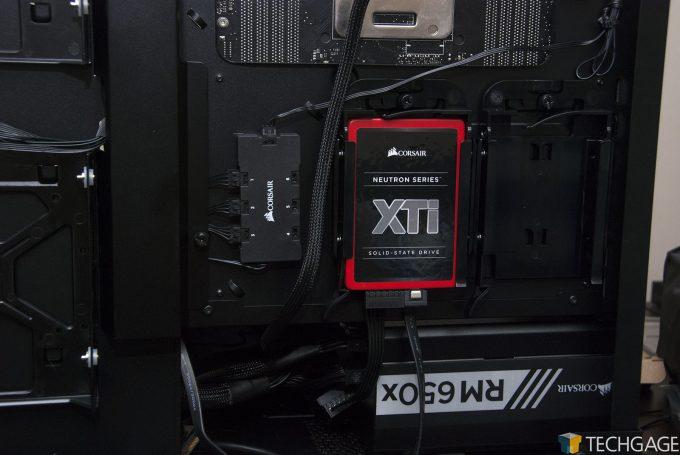 Corsair Crystal 570X Build (Techgage GPU Test Rig) - Back Side