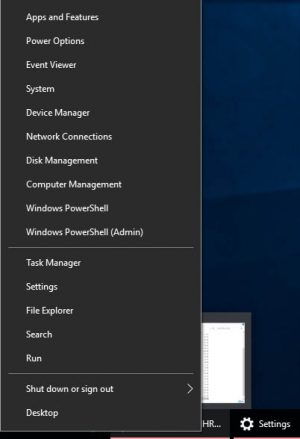 Windows 10 Creators Update Powershell Menu