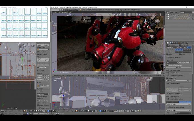 AMD Threadripper And Four Vega FE GPUs Using Blender And Radeon ProRender Plugin