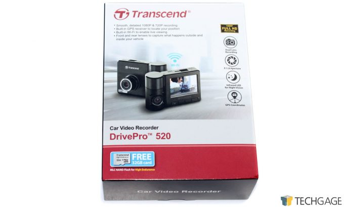 Transcend DrivePro 520 Dashcam Box