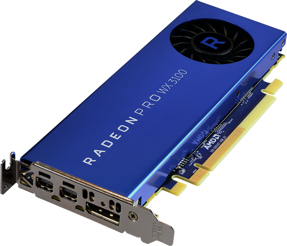 AMD Radeon Pro WX 3100 Workstation Graphics Card