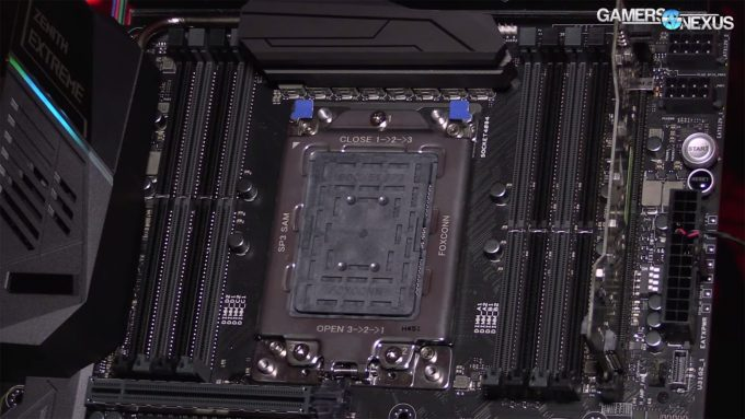 AMD X399 Motherboard Socket (Gamers Nexus)