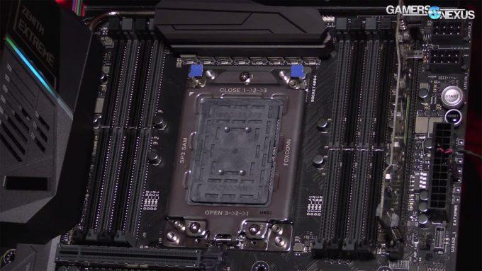AMD X399 Motherboard Socket (Gamers Nexus)