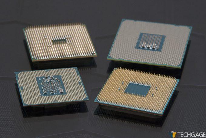 LGA (Intel Core i7-7770K, Core i7-6950X) & PGA (AMD Ryzen 7 1800X, A10-6800) Processors
