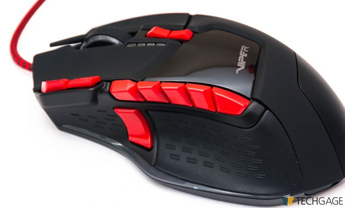 Patriot Viper V570 Gaming Mouse - Left Side