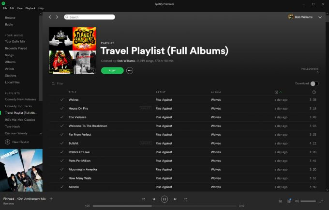 Spotify - Full Albums Playlist