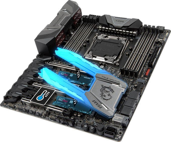 msi-motherboard-x299 m7 ack-m2 shield frozr