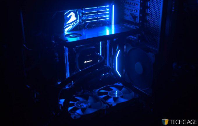 Corsair Carbide 600C (Techgage WS GPU PC) - All Lit Up