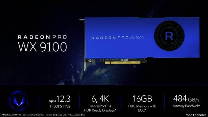 Radeon & Vega Pro Workstation WX 7100