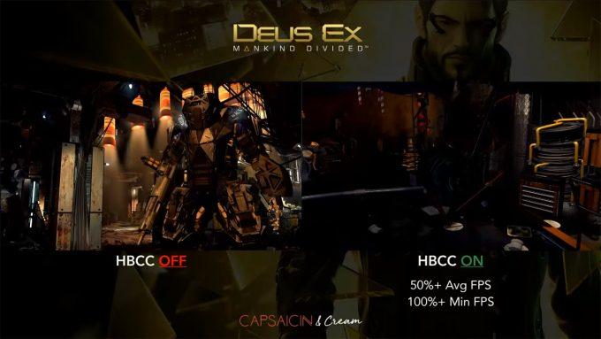 AMD Radeon RX Vega HBCC - Deus Ex Mankind Divided