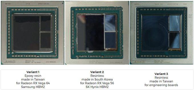 AMD Radeon RX Vega Package Differences - Die Shot