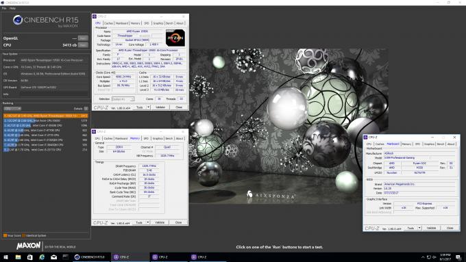 AMD Ryzen Threadripper Cinebench Score