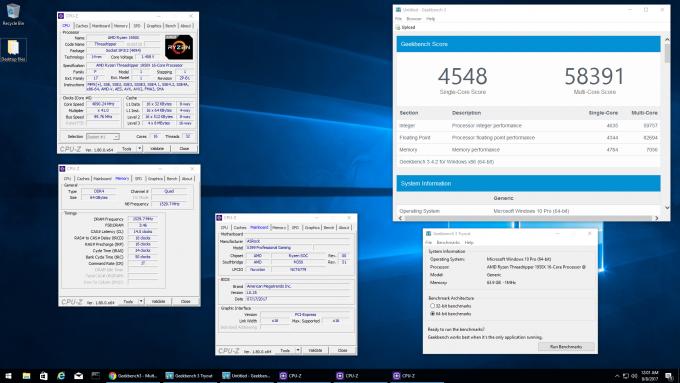 AMD Ryzen Threadripper GeekBench Score