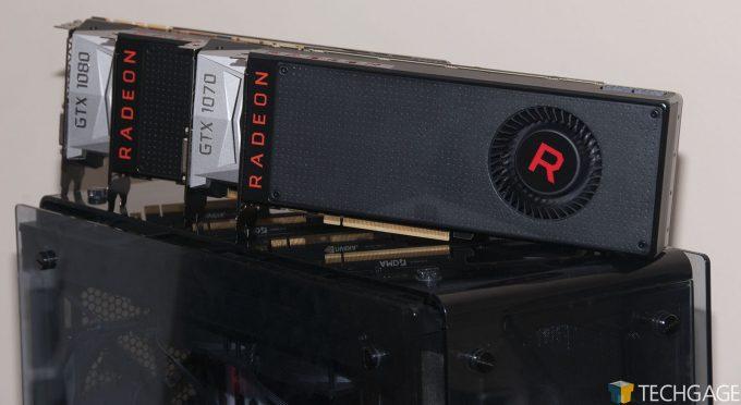AMD Radeon RX Vega 64 and 56, NVIDIA GeForce GTX 1080 and 1070