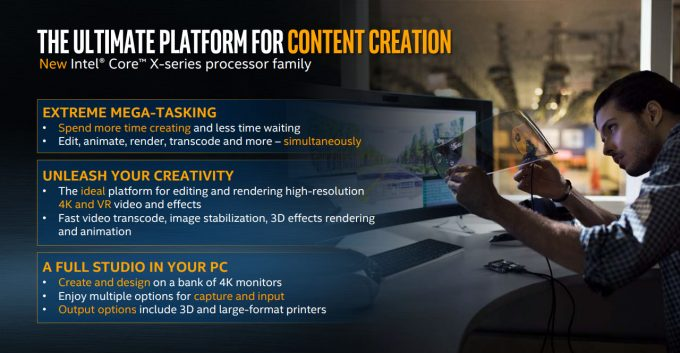 Intel Core X Content Creation Benefits