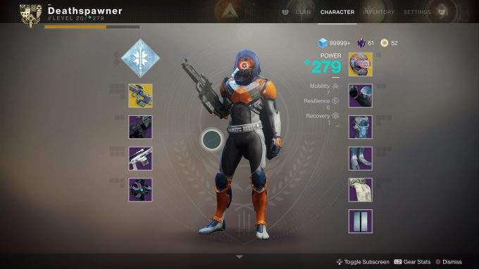 Destiny 2 - Inventory Screen