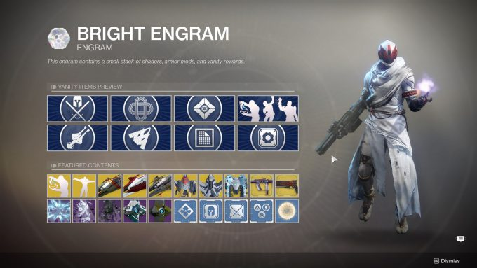 Destiny 2 - Bright Engram Contents