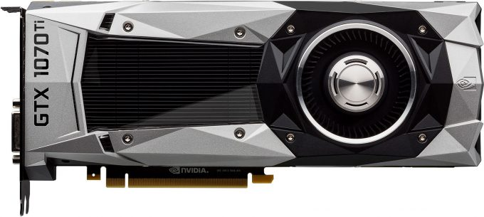 NVIDIA GeForce GTX 1070 Ti - Side-view