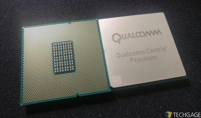 Qualcomm Centriq 2400 Series Processor (Front and Back)