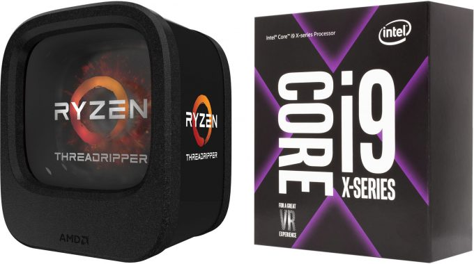 AMD Ryzen Threadripper 1950X and Intel Core i9-7960X Processors