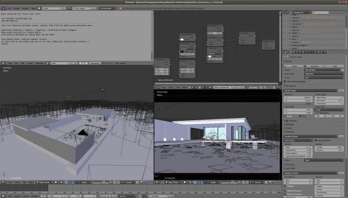 Blender - Pavillon (Linux)