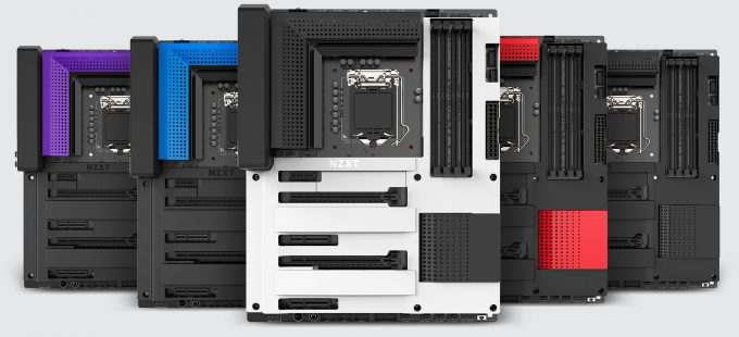 NZXT N7 Z370 Motherboard Faceplate Color Options