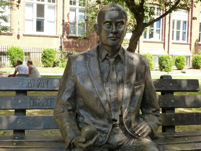 Alan Turing Manchester Statue