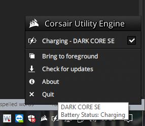 Corsair CUE System Tray