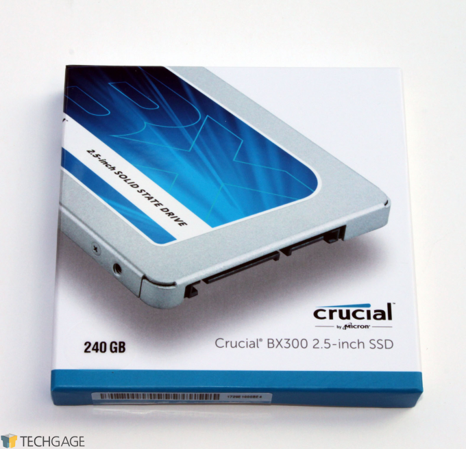 Crucial BX300 SSD Packaging