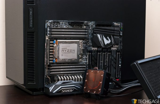 Enermax Equilence Chassis, Liqtech TR4 Cooler & Aorus X399 Gaming 7 Motherboard